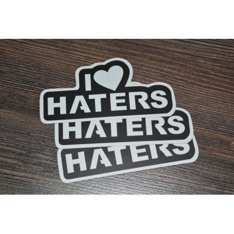 I Love Haters Sticker